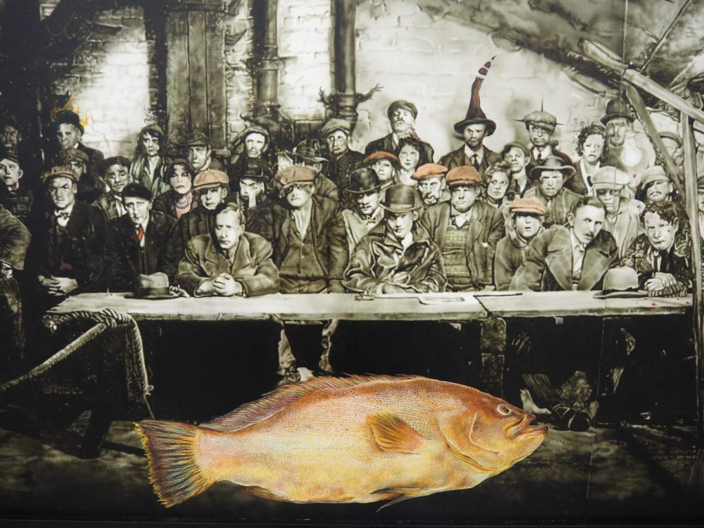 Michael Kiefer, Volk verurteilt einen Fisch, Lehmbruck-Museum Duisburg, Foto Dieter Pohl